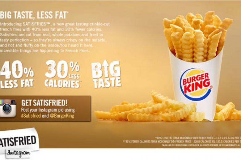 Burger King Kenalkan Kentang Goreng Rendah Kalori