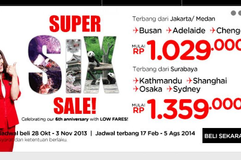 AirAsia Super Six Sale