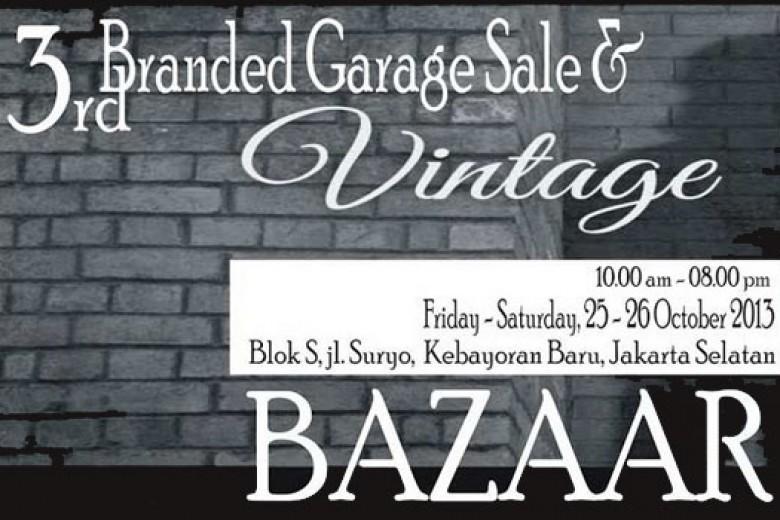 3rd Branded Garage Sale & Vintage Bazaar