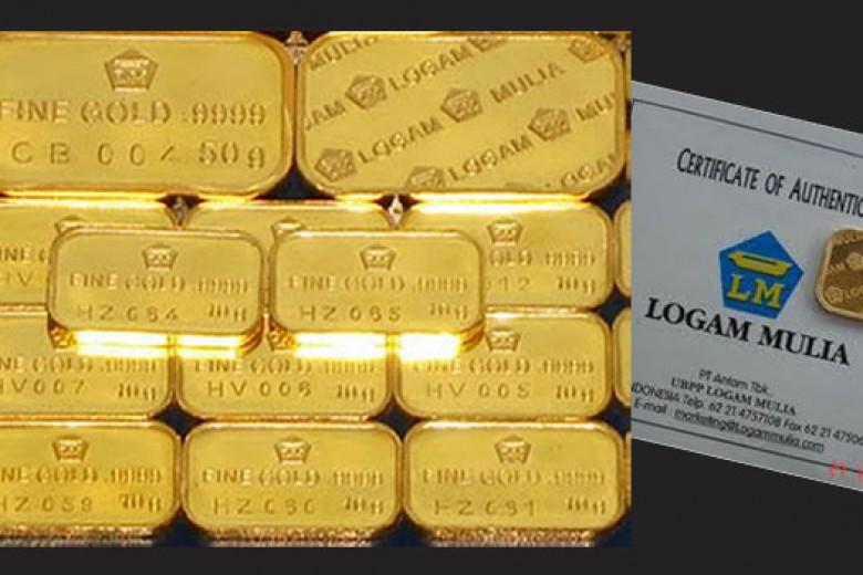 Emas Antam Senin (20/1) Naik Rp5.000 per Gram