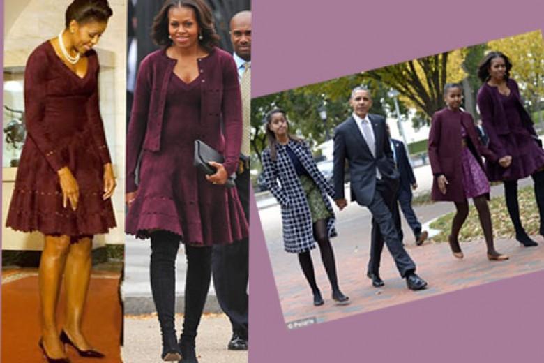 Michelle Obama Tampil Simpel dengan Rancangan Azzedine