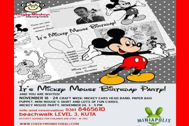 Mickey Mouse Birthday Party – Bali