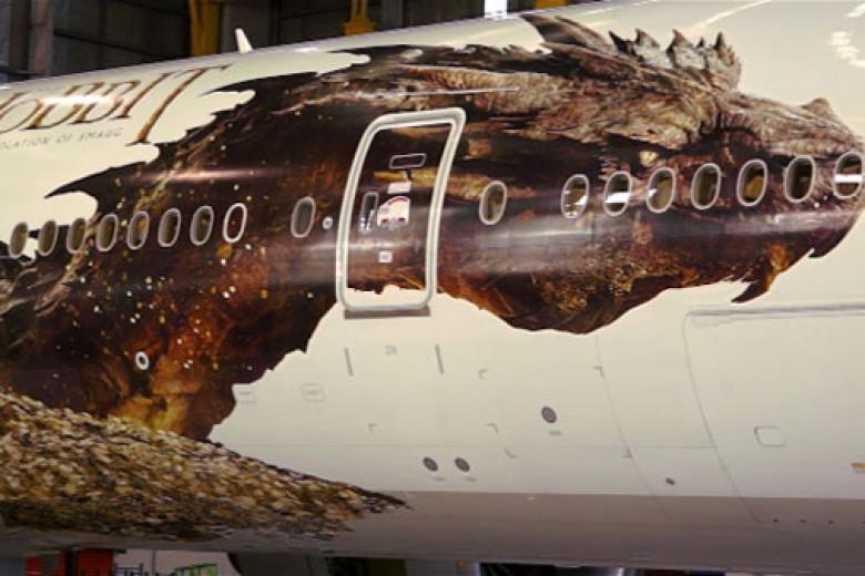 Naga Hobbit di Pesawat Air NZ