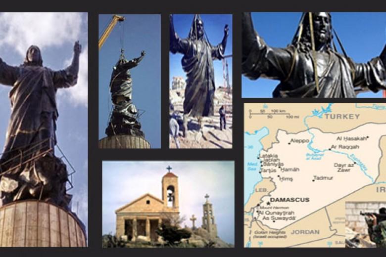 Harap Perdamaian, Patung Yesus Berdiri di Suriah