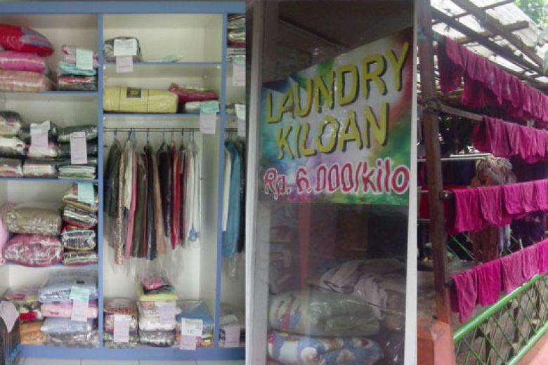 Bisnis Cuci Kiloan di Tengah Musim Hujan