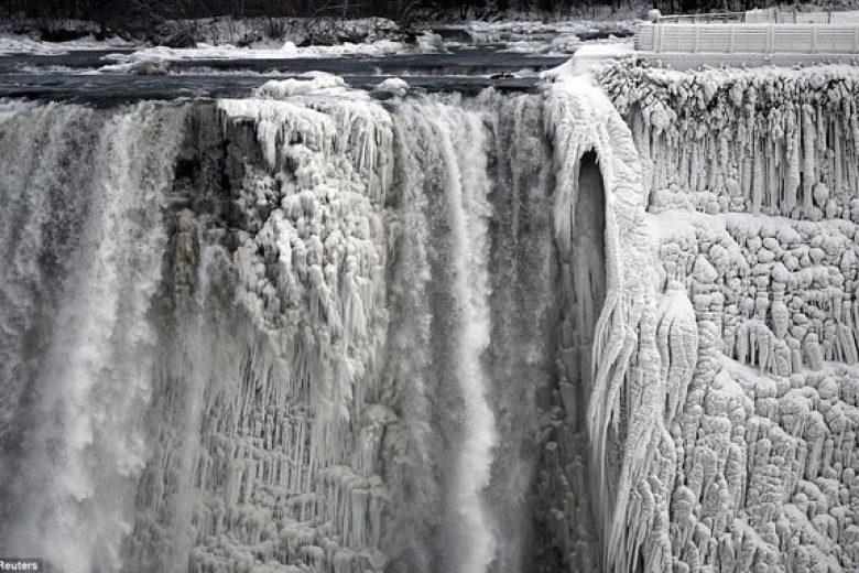 Air Terjun Niagara Beku!