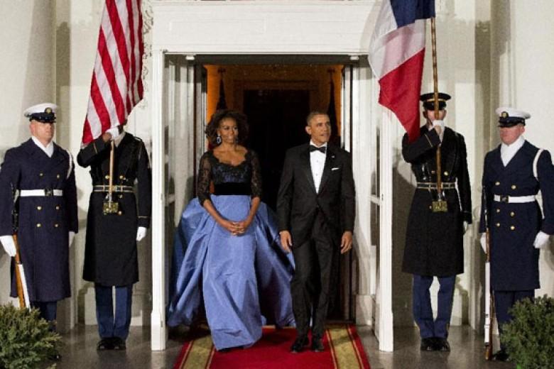 Ibu Negara AS Sambut Prancis dengan 'Prancis'
