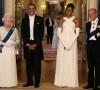 Sebelum jamuan makan malam bersama Ratu Elizabeth II dan Pangeran Philip di Buckingham Palace, Inggris, Mei 2011