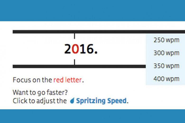 Spritz, Aplikasi Membaca Cepat