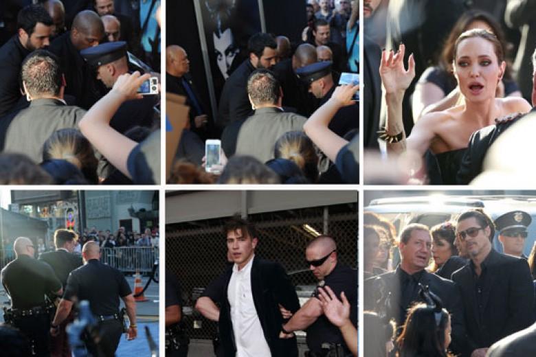 Hadiri Premier 'Maleficent', Brad Pitt Diserang
