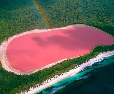 Danau Unik Berwarna Pink