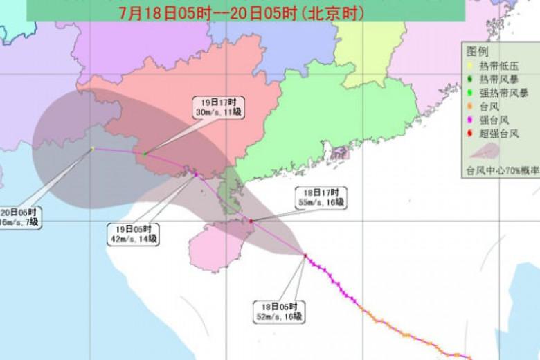 Tiongkok Selatan Diancam Badai