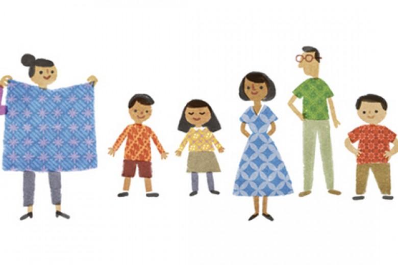 Logo Google Rayakan Hari Batik Nasional