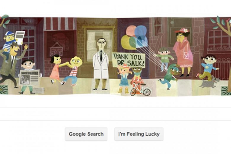 Google Rayakan 100 Tahun Dr Jonas Salk