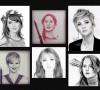 Uniknya wajah Jennifer menginspirasi pelukis untuk menggambar sketsanya