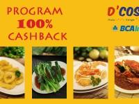 D'Cost Seafood Beri Cash Back 100%