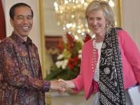 Selendang Batik Temani Putri Astrid Jumpa Jokowi