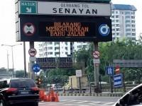 Masuk di Tol Senayan, Siapkan Uang Elektronik