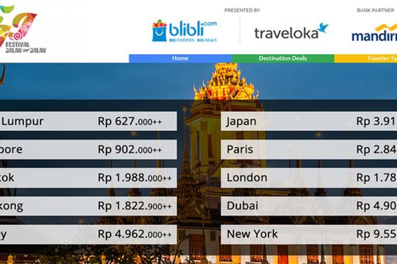 Jelajah Tiket Liburan di Travel Fair Online
