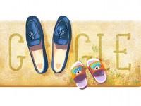 Doodle Hari Ibu Bergambar Sepatu