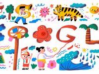 Doodle Google Rayakan Kemerdekaan RI